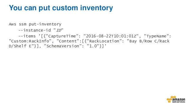 Deep Dive on Amazon EC2 Systems Manager