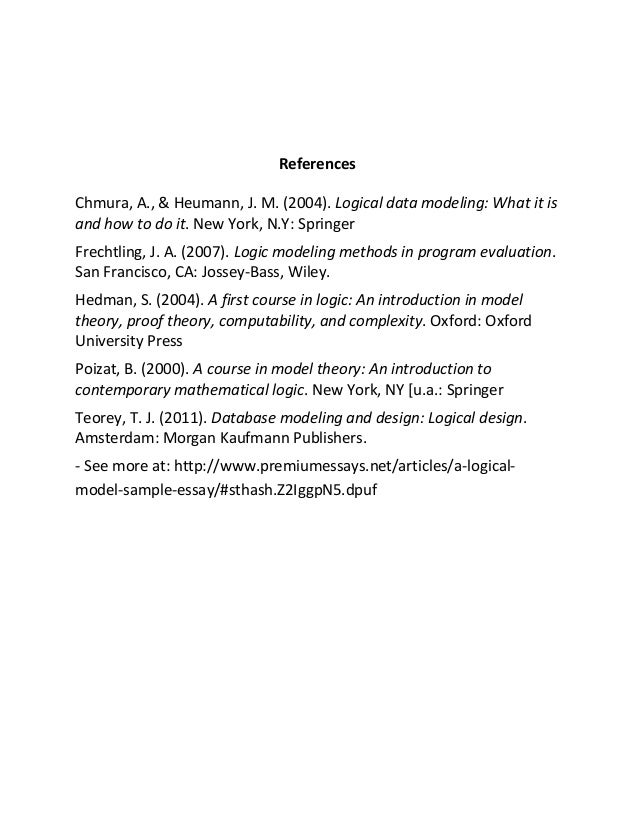 a logical model sample essay 7