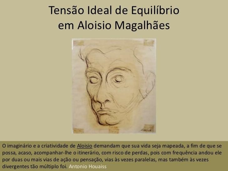 Tensão Ideal de Equilíbrio                     em Aloisio MagalhãesO imaginário e a criatividade de Aloisio demandam que s...
