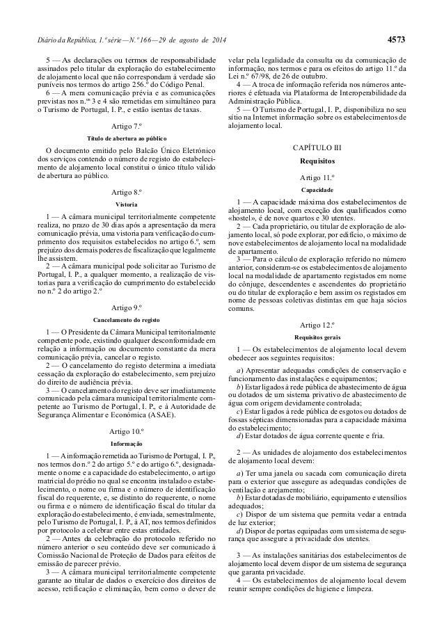Diário da República, 1.ª série — N.º 166 — 29 de agosto de 2014 4573  5 — As declarações ou termos de responsabilidade  as...