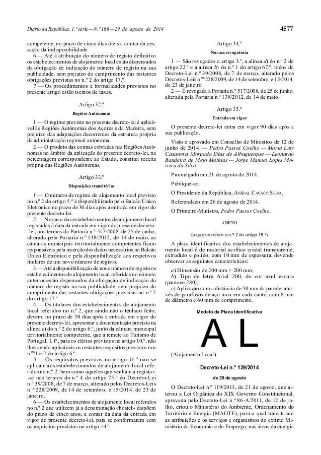 Diário da República, 1.ª série — N.º 166 — 29 de agosto de 2014 4577  competente, no prazo de cinco dias úteis a contar da...