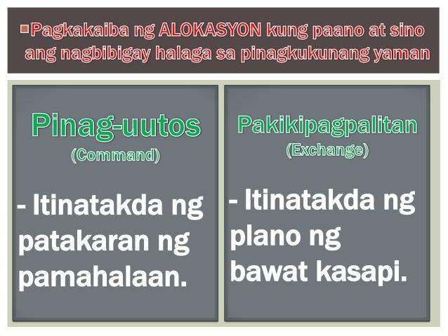 Ang Iba't Ibang Uri ng Sistemang Pang Ekonomiya