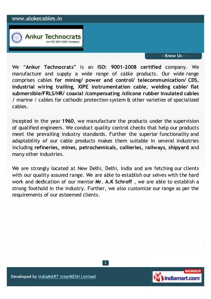 Ankur Technocrats, New Delhi, Ship Communications Cables Slide 2