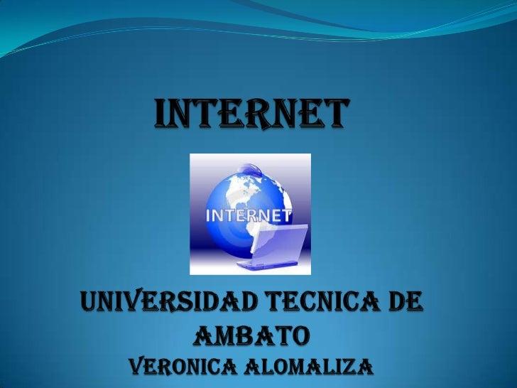 """Podemos definir a Internet como una """"red de redes"""", esdecir, una red que no sólo interconecta computadoras, sinoque interc..."""
