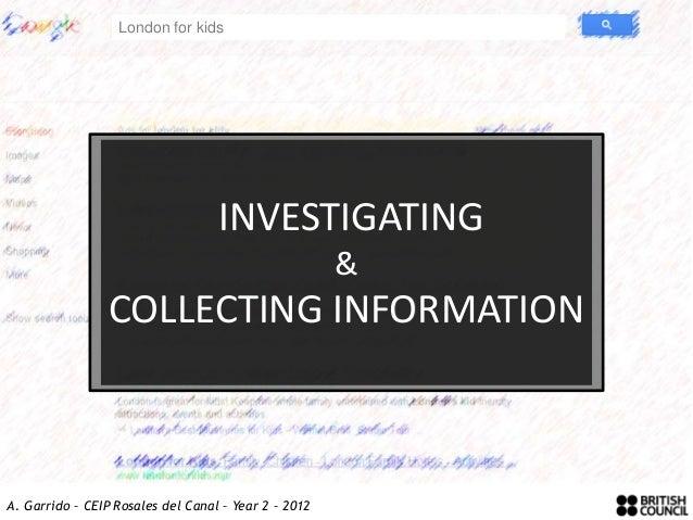 London for kids                                   INVESTIGATING                                                      &    ...