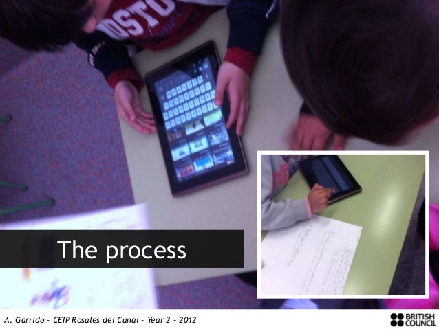The processA. Garrido – CEIP Rosales del Canal – Year 2 – 2012