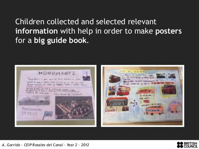 Children collected and selected relevant       information with help in order to make posters       for a big guide book.A...