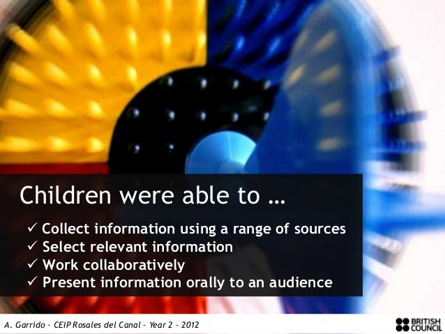 Children were able to …      Collect information using a range of sources      Select relevant information      Work co...