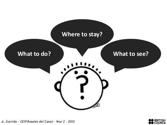 Where to stay?           What to do?                                    What to see?A. Garrido – CEIP Rosales del Canal – ...