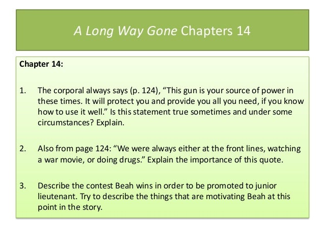 Discussion Questions for A Long Way Gone: Memoirs of a Boy ...