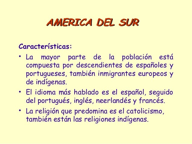 america latina caracteristicas generales de la - photo#8