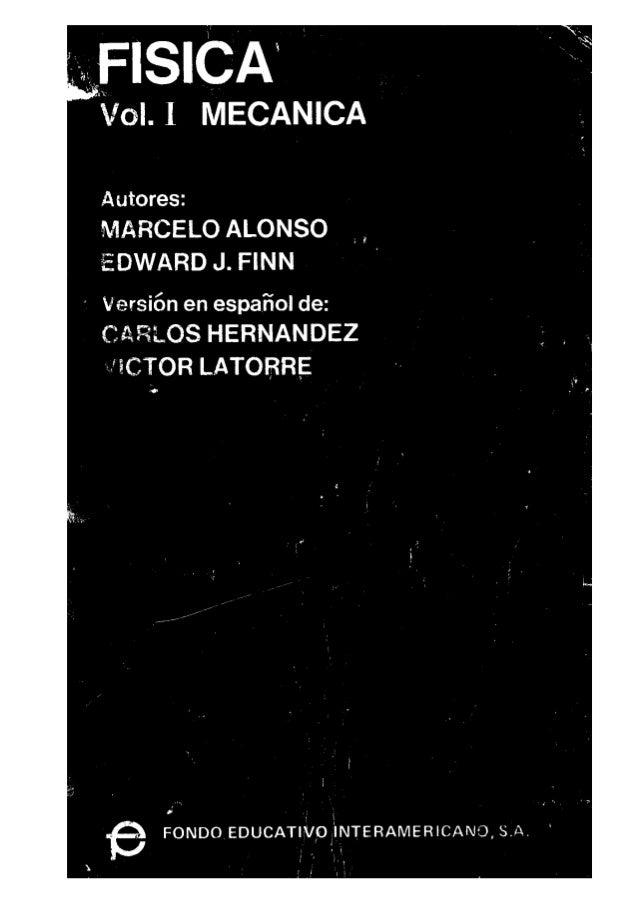 Fisica Vol I Alonso Finn Mecánica y Cinemática español pdf