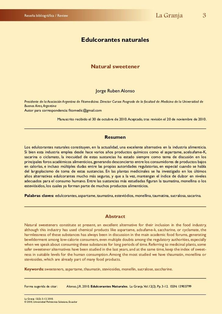 Reseña bibliográfica / Review                                                                        La Granja            ...