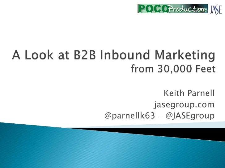 Keith Parnell           jasegroup.com@parnellk63 - @JASEgroup