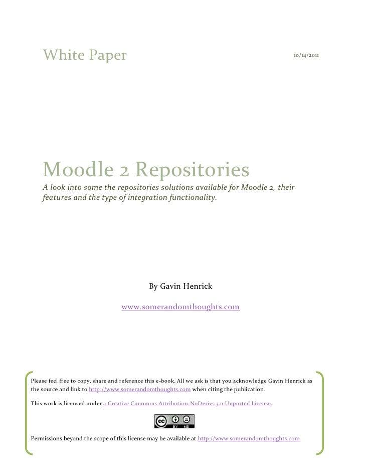 White Paper                                                                                       10/14/2011    Moodle 2 R...