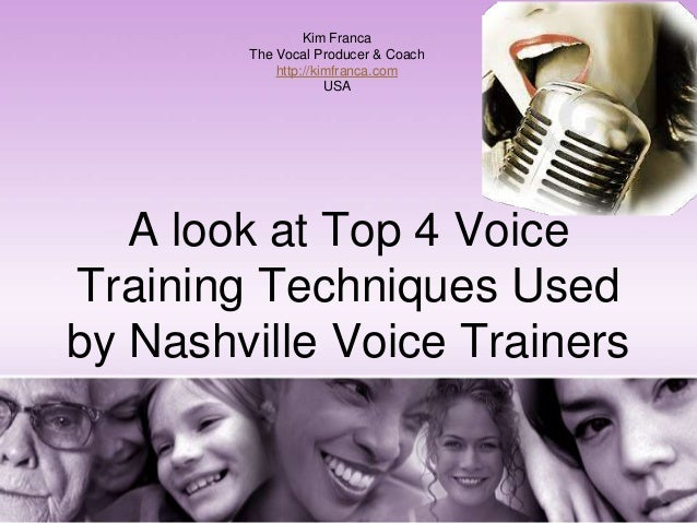 A look at top 4 Voice Training Techniques