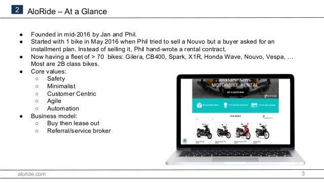 Aloride.com - Singapore Motorbike Rental Introduction (2018) Slide 3