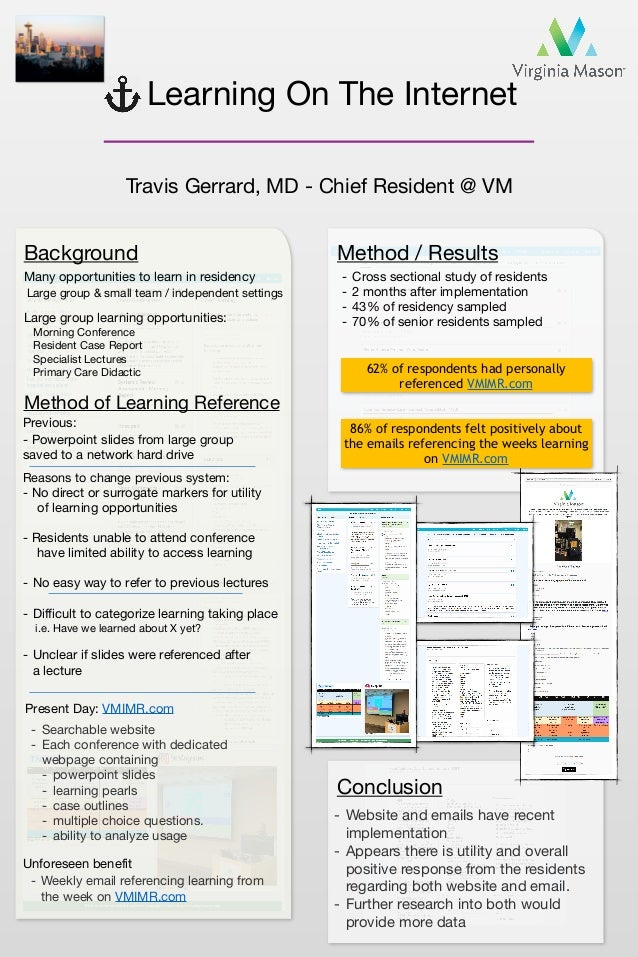 Learning On The Internet Travis Gerrard, MD - Chief Resident @ VM Background Many opportunities to learn in residency Prev...