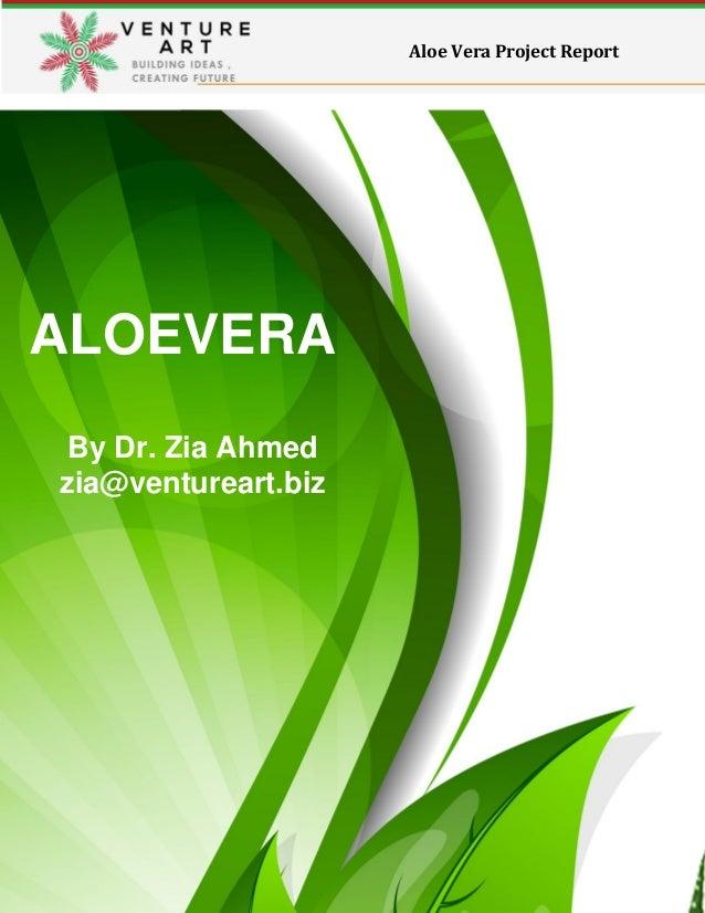 aloe vera project report