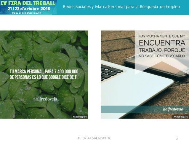 Redes sociales y marca personal para la búsqueda de empleo Slide 3