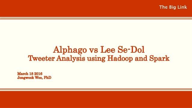 Alphago vs Lee Se-Dol Tweeter Analysis using Hadoop and Spark March 18 2016 Jongwook Woo, PhD