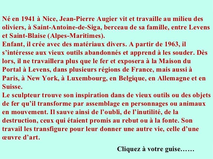 Les sculptures de jean pierre augier - Comptoir des fers et metaux sa luxembourg ...
