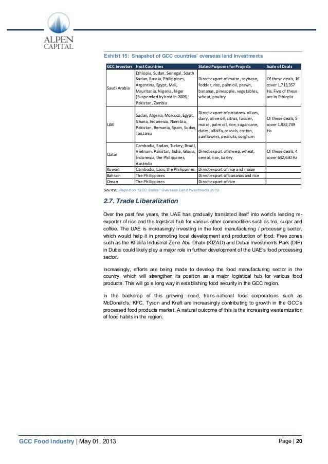 Alpen capital gcc food sector 1 may 2013