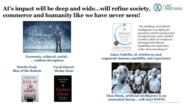 AI's impact will be deep and wide…will refine society, commerce and humanity like we have never seen! Economic, cultural, ...