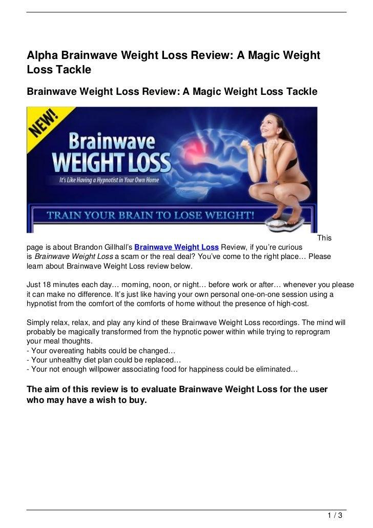 Alpha Brainwave Weight Loss Review: A Magic WeightLoss TackleBrainwave Weight Loss Review: A Magic Weight Loss Tackle     ...