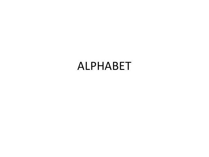 ALPHABET<br />