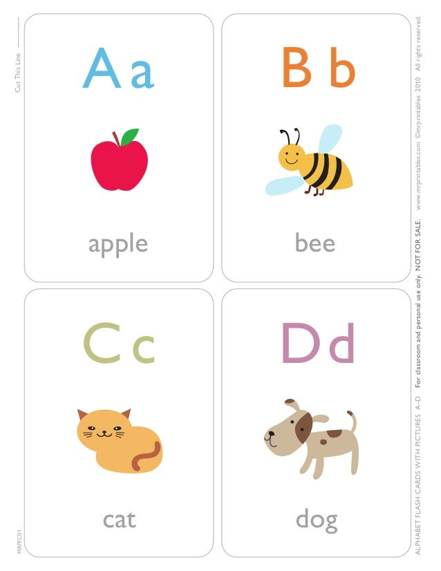 MRPFC01  Cut This Line  apple  Cc Dd  cat  dog  www.mrprintables.com ©mrprintables 2010 All rights reser ved.  bee  For cl...