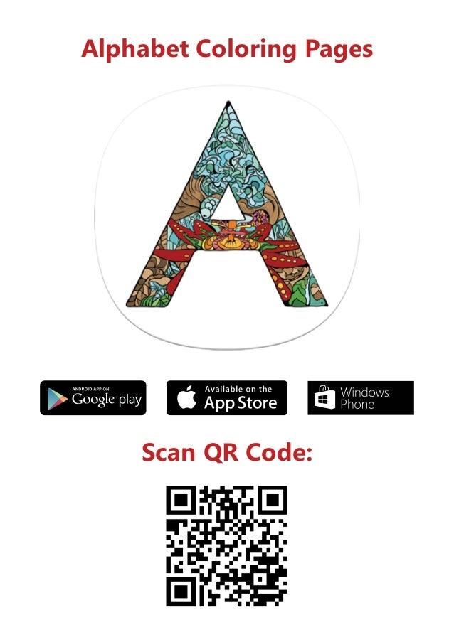 Scan QR Code Alphabet Coloring Pages