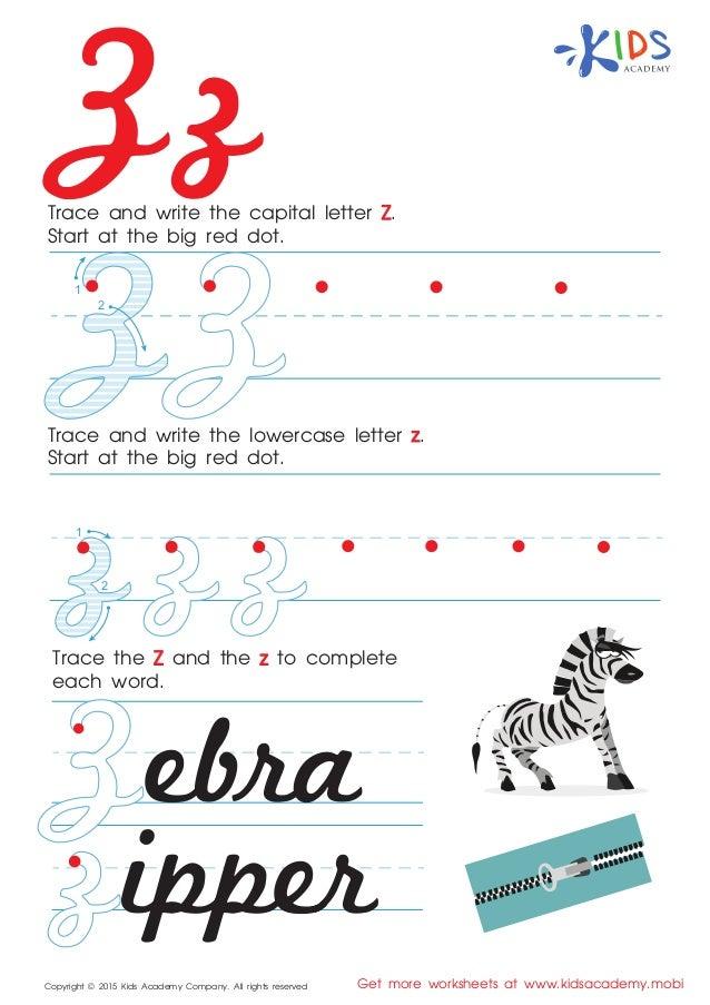 alphabet cursive letter z