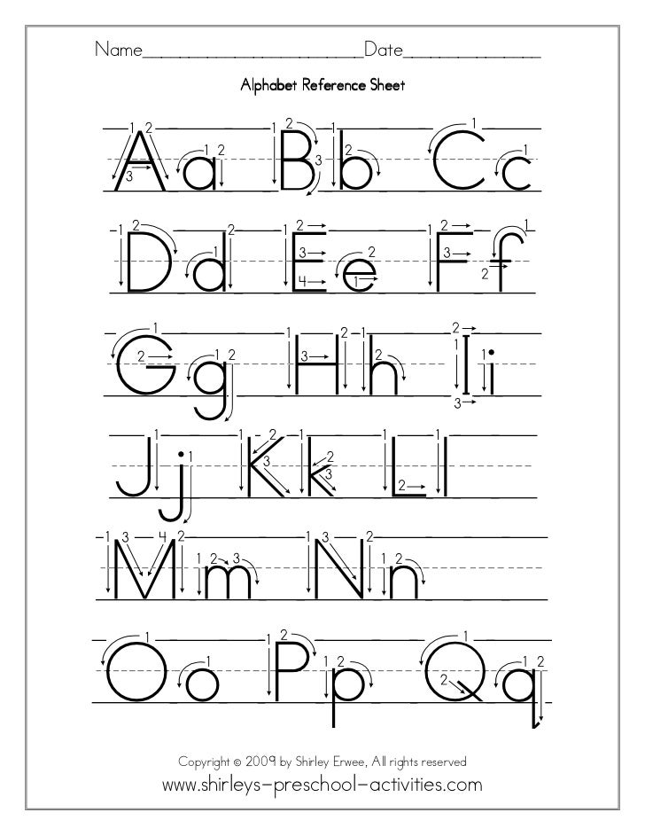 Alphabet free-worksheets