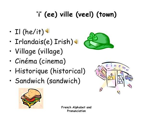 Alphabet and pronunciation for Piscine pronunciation