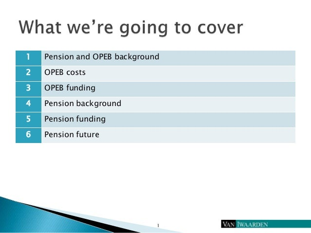 The Alphabet Forest: OPEB, GASB and Pensions Slide 2