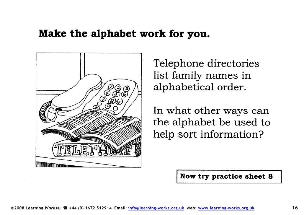 Alphabetical Order Book
