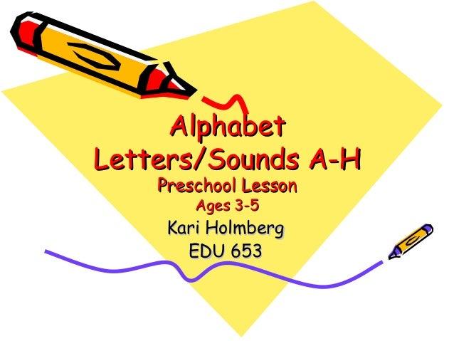 Alphabet Letters/Sounds A-H