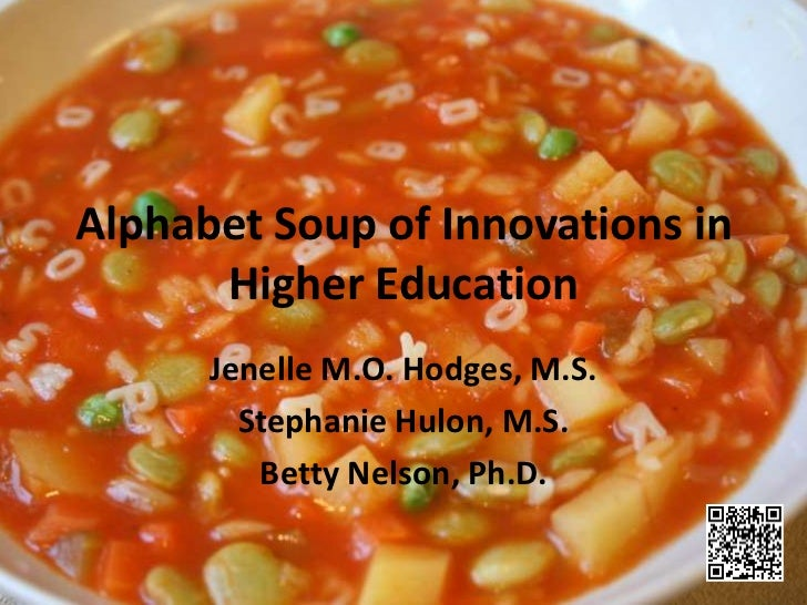 Alphabet Soup of Innovations in      Higher Education      Jenelle M.O. Hodges, M.S.        Stephanie Hulon, M.S.         ...