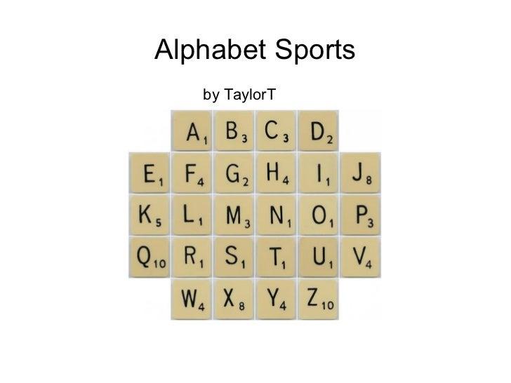 Alphabet Sports by TaylorT
