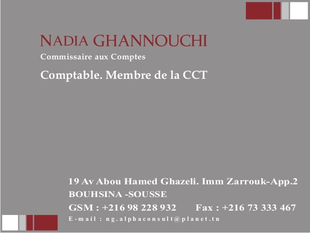 T N Commissaire Aux Comptes Comptable Membre De La CCT 2