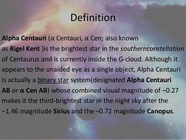 Alpha centauri Star