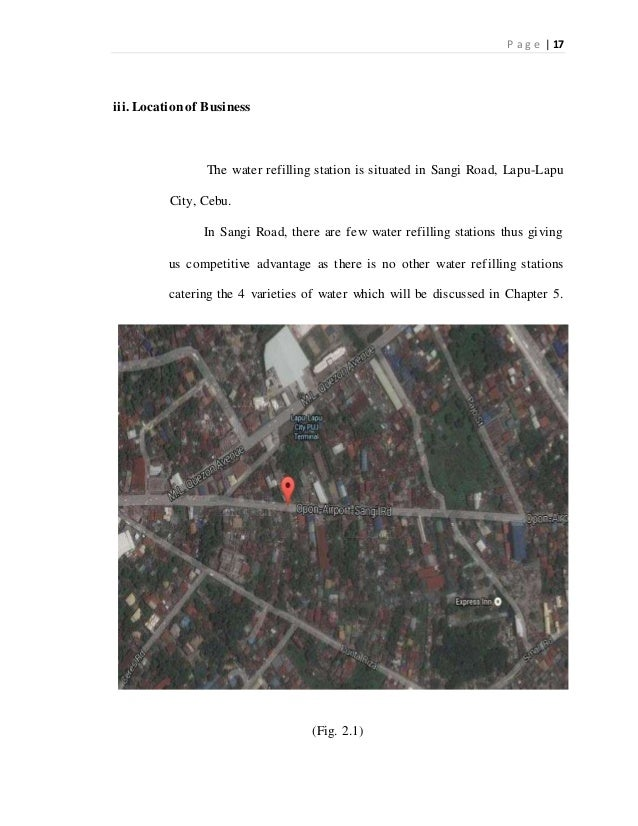 feasibility study on purifiied water refilling Feasibility study on purifiied water refilling station  feasibility study on purifiied water refilling station dear respondent: the undersigned are the bachelor of science in accountancy students of jose maria college.
