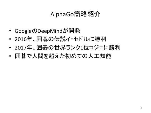 古典的ゲームAIを用いたAlphaGo解説 Slide 2