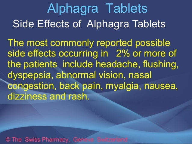 Possible side effects of viagra