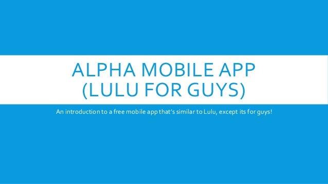 lulu app for guys