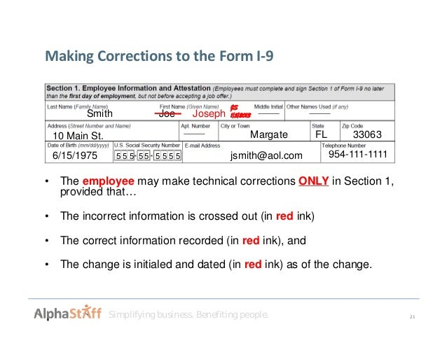 form i-9 corrections  Welcome to the New I-14 Form