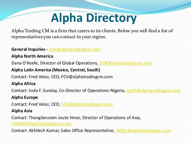 Alpha forex private limited