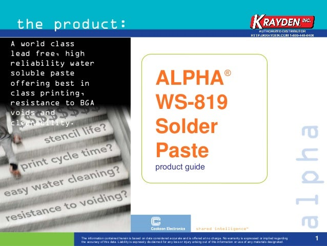 the product:A world classlead free, highreliability watersoluble paste                                                    ...