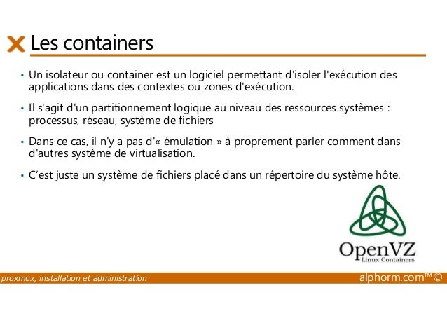 Formation proxmoxve 3 for Isoler un container